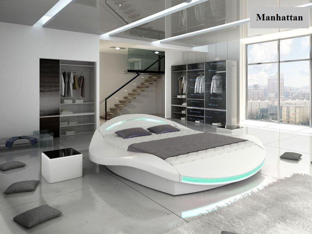 Details About Moder Platform Bed Manhattan Black Or White With