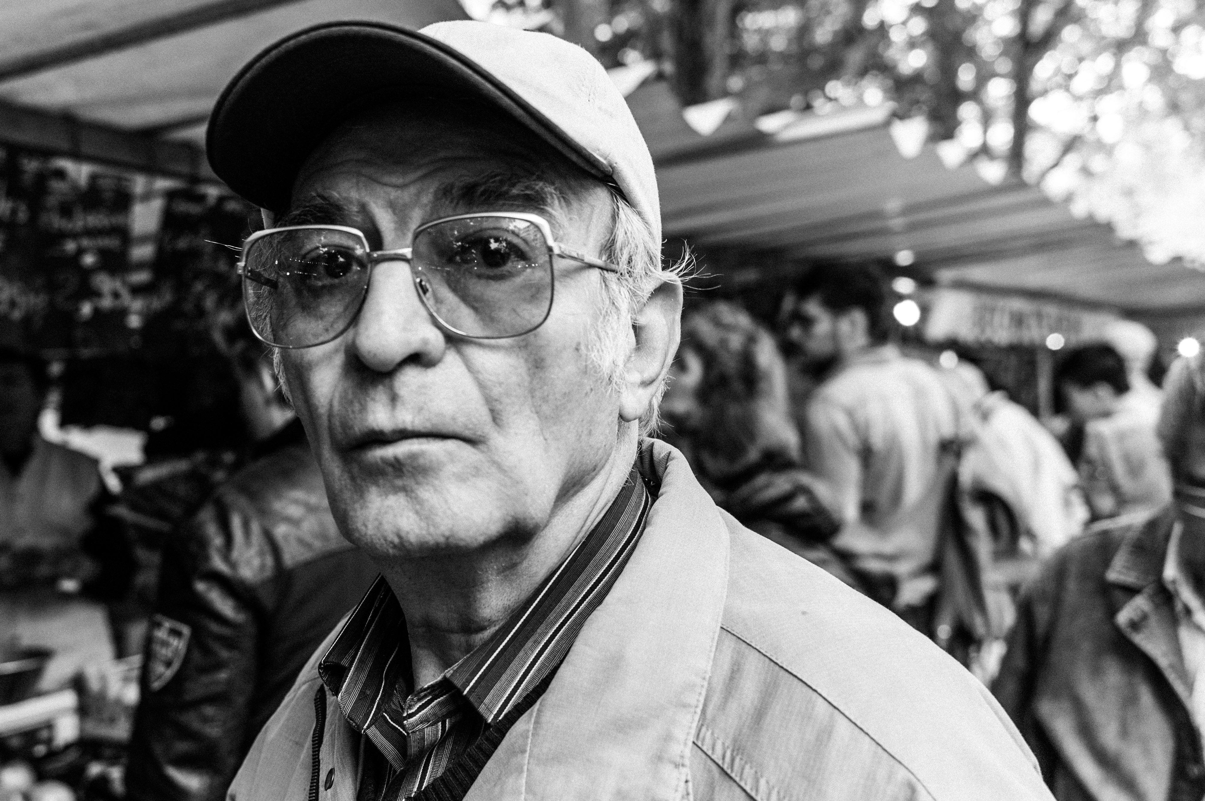 Street Portrait Of Old Man #MarchéRichardLenoir #Paris #75011 #Paris11
