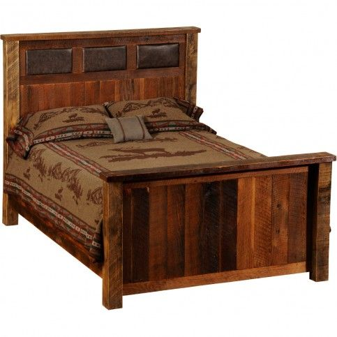 Best of Fireside Lodge Reclaimed Wood and Leather Bed California King Size rustic beds New - Contemporary barnwood bedroom furniture Simple Elegant
