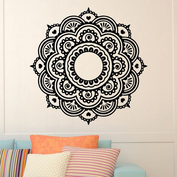 Mandala wall decal vinyl sticker yoga lotus flower от wisdomdecals