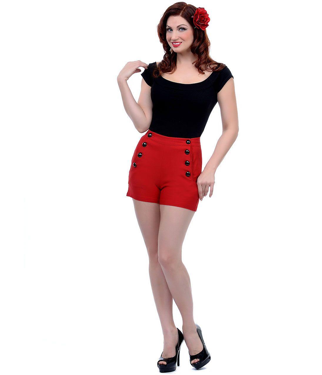 50s style shorts