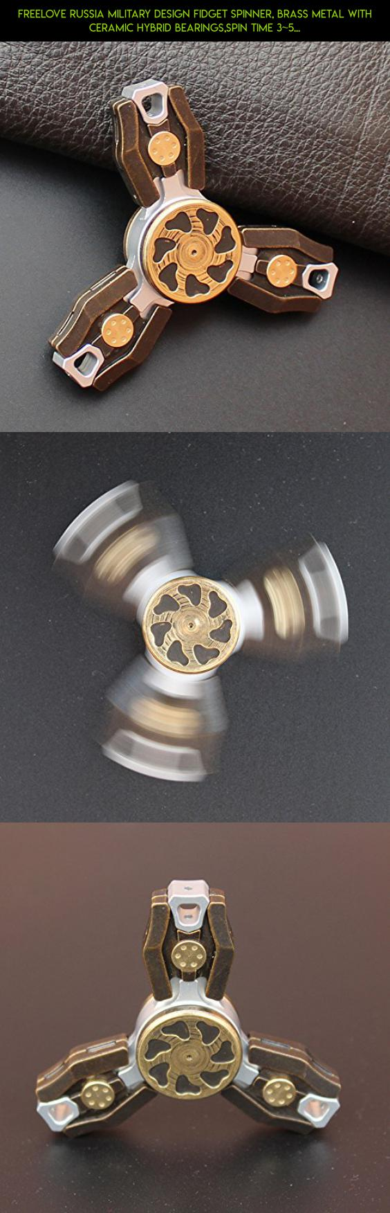 FREELOVE Russia Military Design Fidget Spinner, Brass Metal With Ceramic Hybrid Bearings,Spin Time 3~5 minutes,Premium EDC All Part Disassembly DIY Tritium Pipe (Dark Brown, Brass Military 3-Leaf) #shopping #camera #over #kit #parts #50 #racing #technology #gadgets #spinner #tech #products #metal #plans #drone #fpv