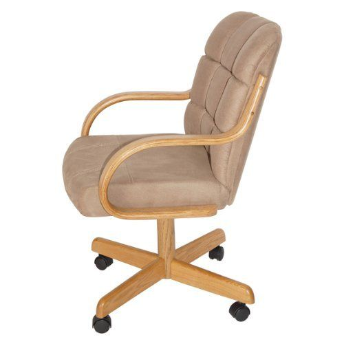 Casual Dining Cushion Swivel And Tilt Rolling Caster Chair This