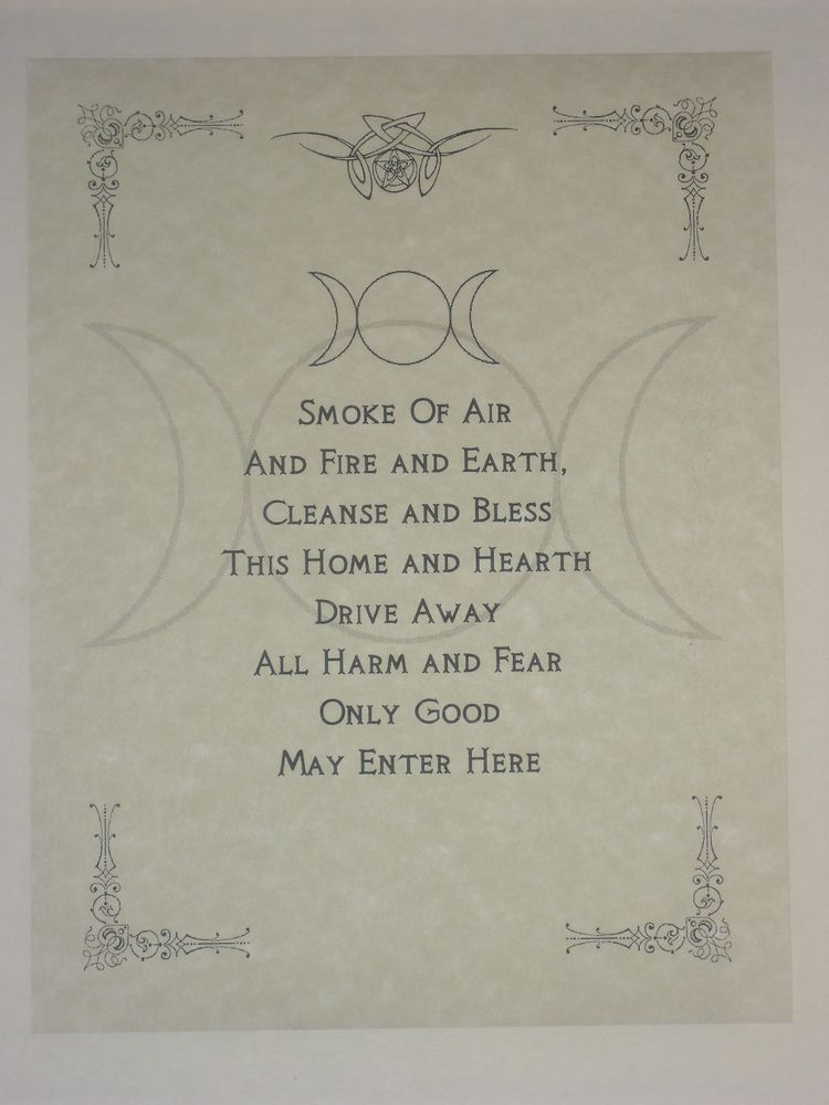 Wiccan House Blessings Poster Or Book Of Shadows Page