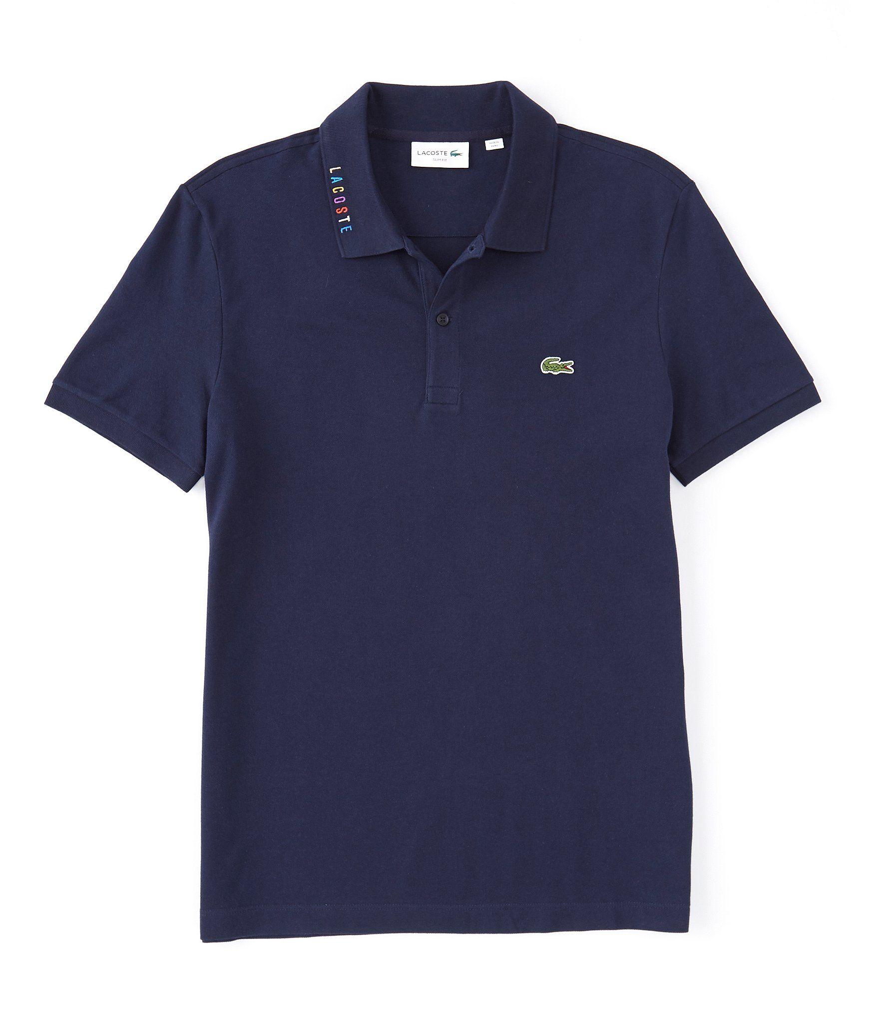 Slim Fit Stretch Pique Short Sleeve Polo Shirt Lacoste Shirts Pique