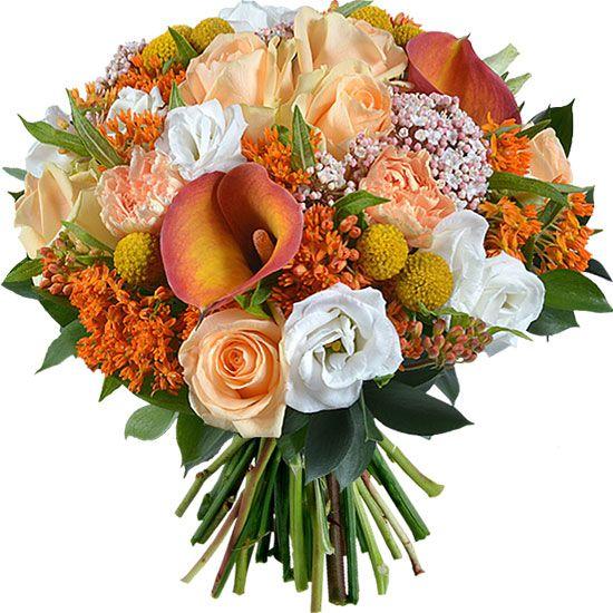 Charmant Bouquet Corail Et Blanc By Aquarelle Com Livraison