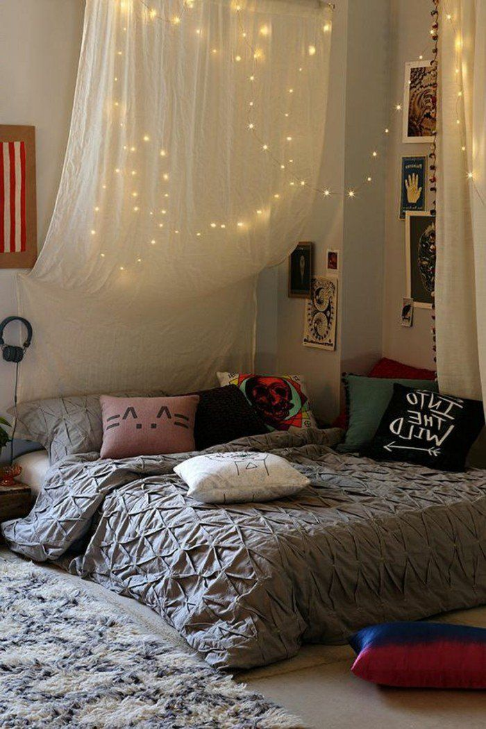 60 idées en photos avec éclairage romantique!   Styles hippie ...