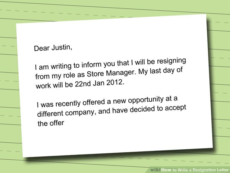 Write a Resignation Letter Letters and Resignation letter