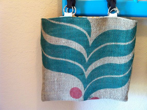 Coffee Bean Gunny Sack Tote Bags by CopperSkyRanch on Etsy