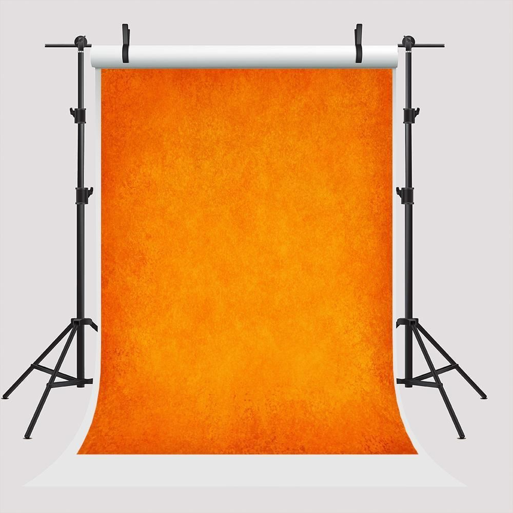 Photo of Orange Solid Photography Fabric Abstract Backdrop for Photo Shooting