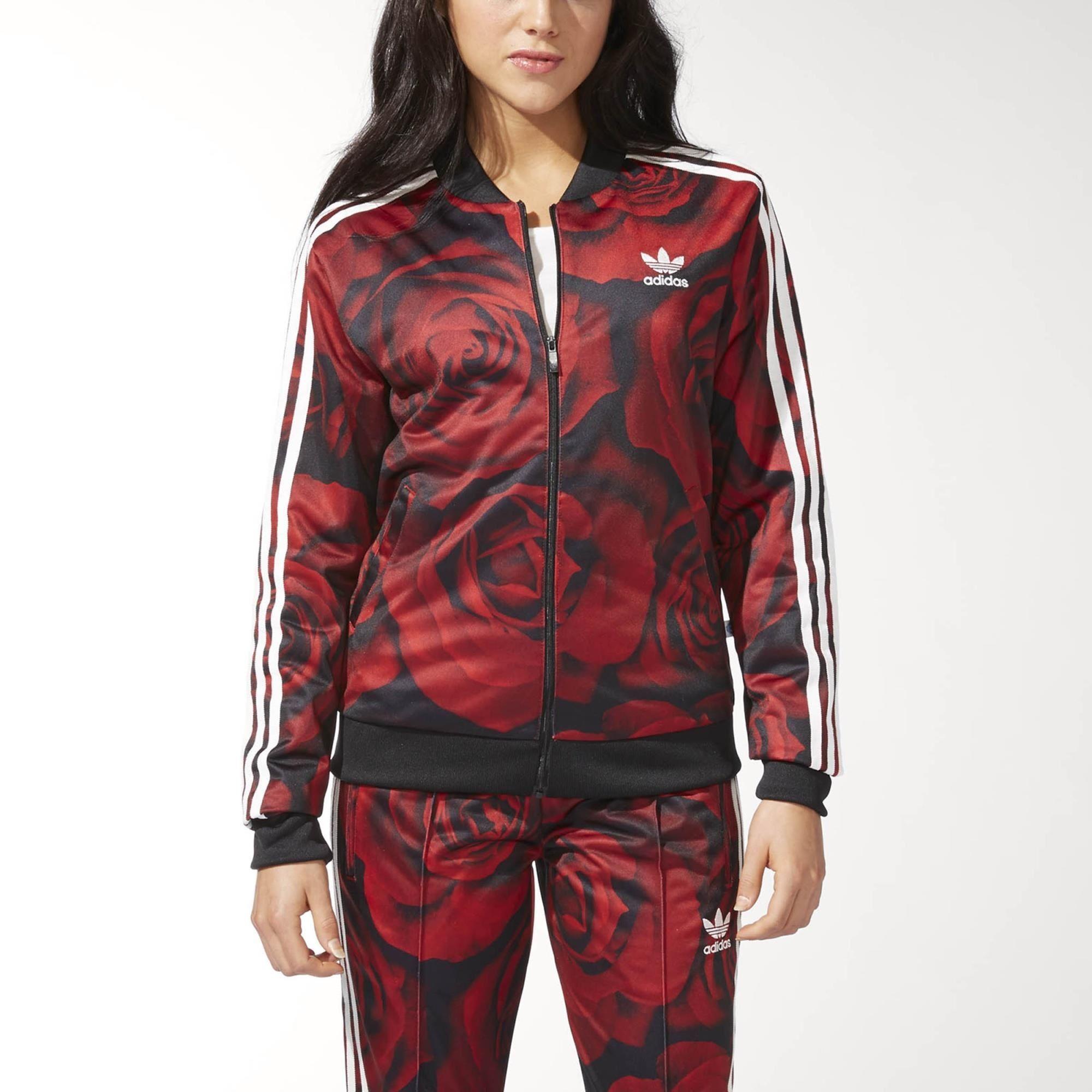 chaqueta de chandal mujer adidas rojo