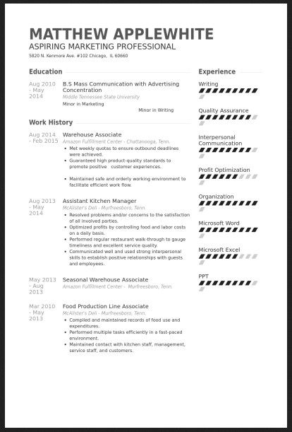 Warehouse Job Resume Warehouse Associate Skills For Resume  Httpjobresumesample