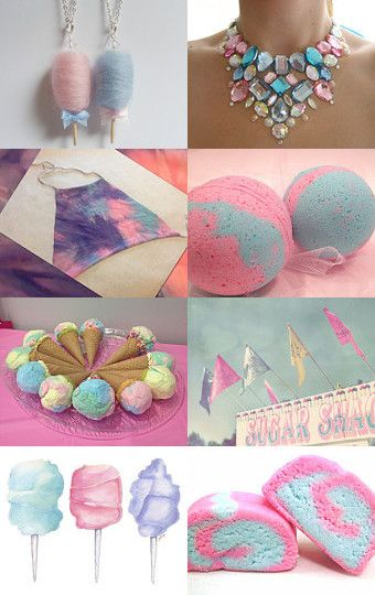I Love Cotton Candy by Rebecca on Etsy--Pinned with TreasuryPin.com