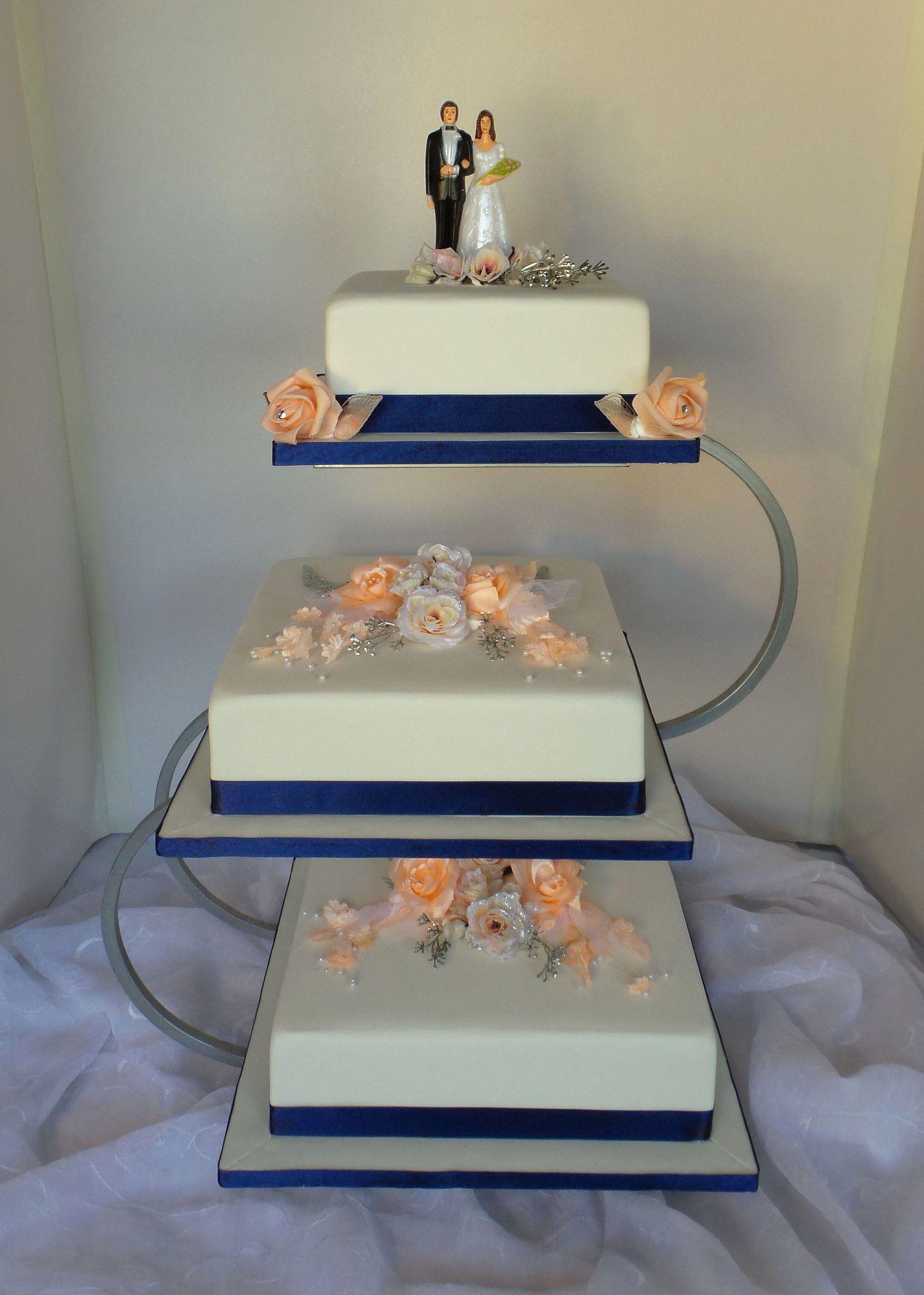 Simple Three Tier Wedding Cake In