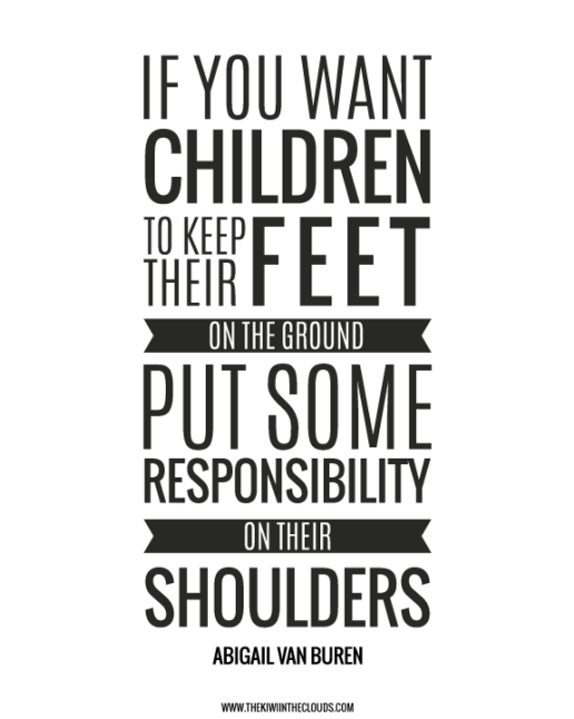Give your children some responsibilities to strengthen ...