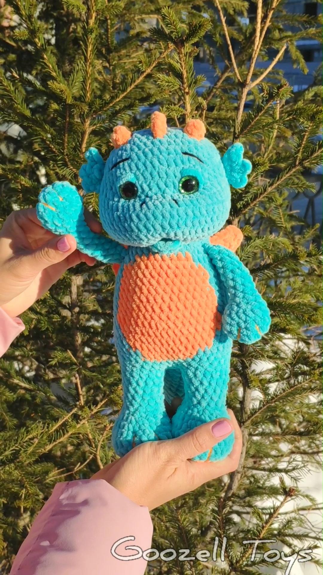 Photo of CROCHET DRAGON PATTERN, Amigurumi Drachenmuster, Crochet Dinosaur Muster, Stuff Drachenspielzeug Muster