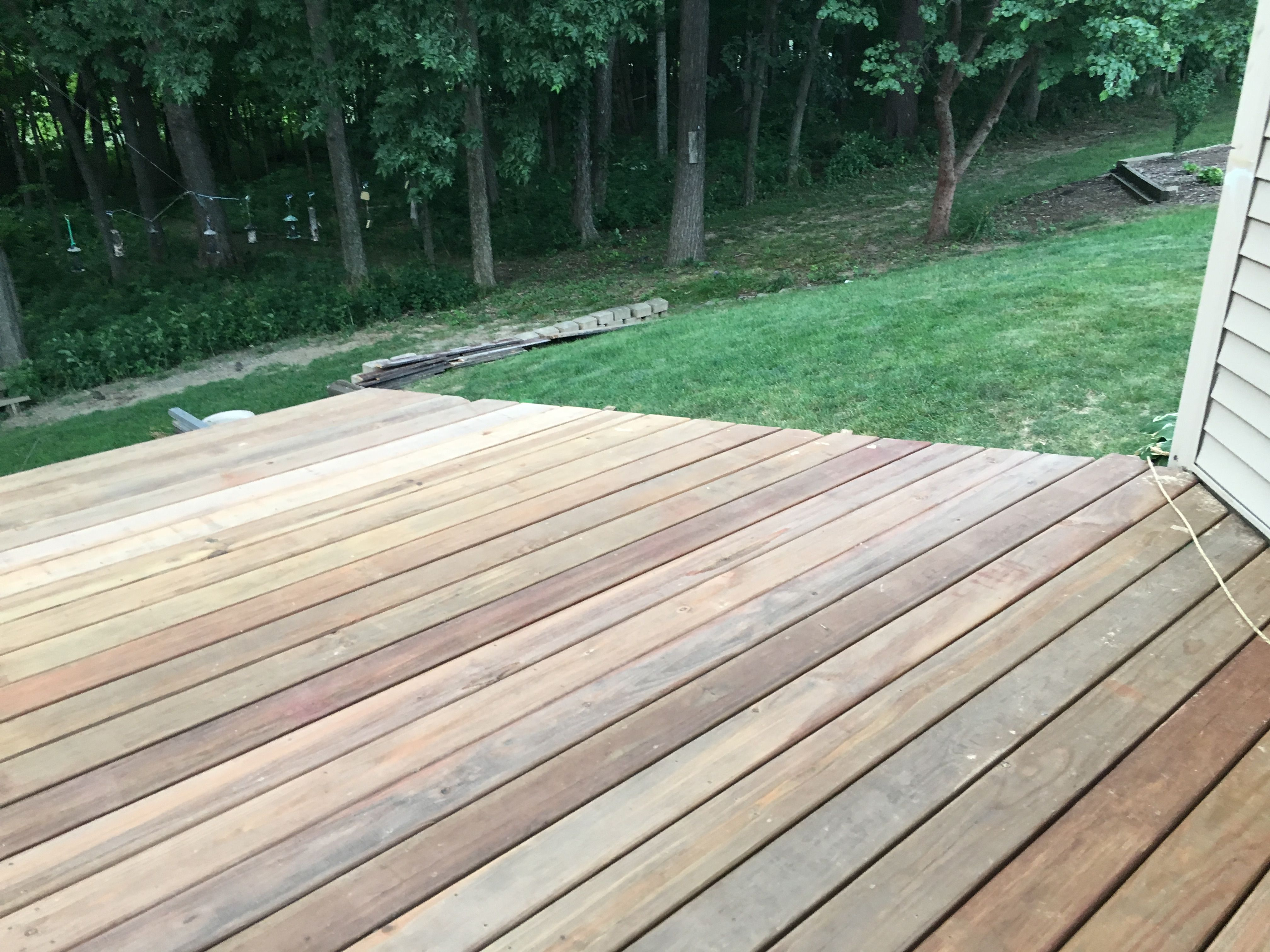 Diy Deck Renovation Started In March 2017 Completed Deck Board Installation June 2017 Ac2 Cedartone Deck Boards From Menards D Diy Deck Deck Renovation Deck