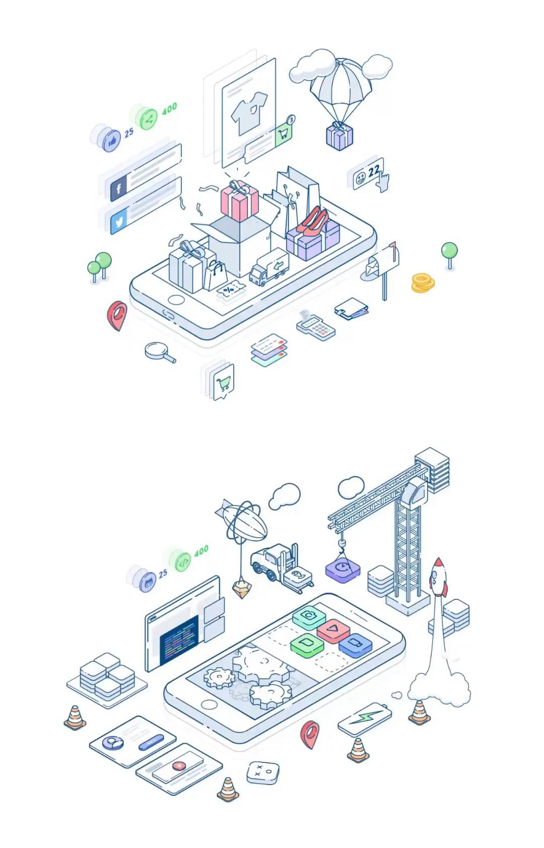 Isometric Buildup Animations