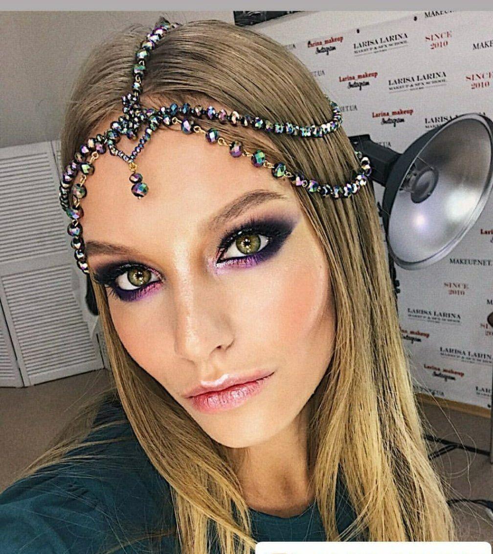 Boho Chain Headpiece, Rainbow Head Jewelry, Hair jewelry ...