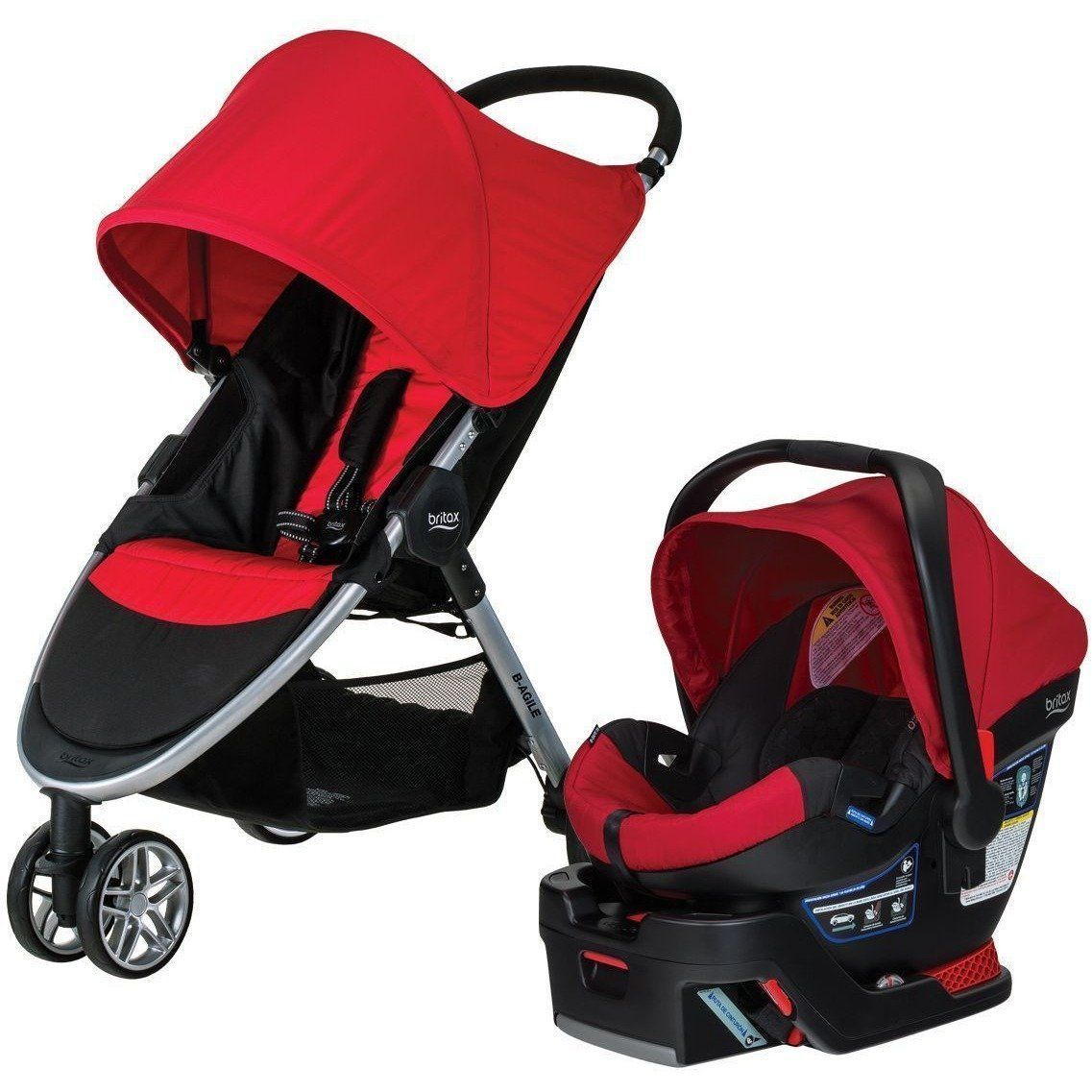 Britax BAgile 3 / BSafe 35 Travel System Red Stroller