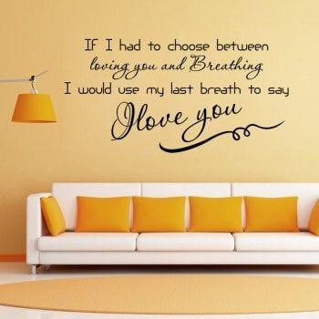 DSU To Choose Love You DIY Home Decoration Wall Decal Living Room ...