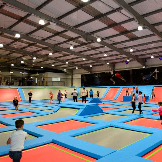 What It All About Rush Is A Newly Opened Trampoline Park In High Wycombe It Offers An Array Of Jumping Indoor Trampoline Backyard Trampoline Trampoline Park
