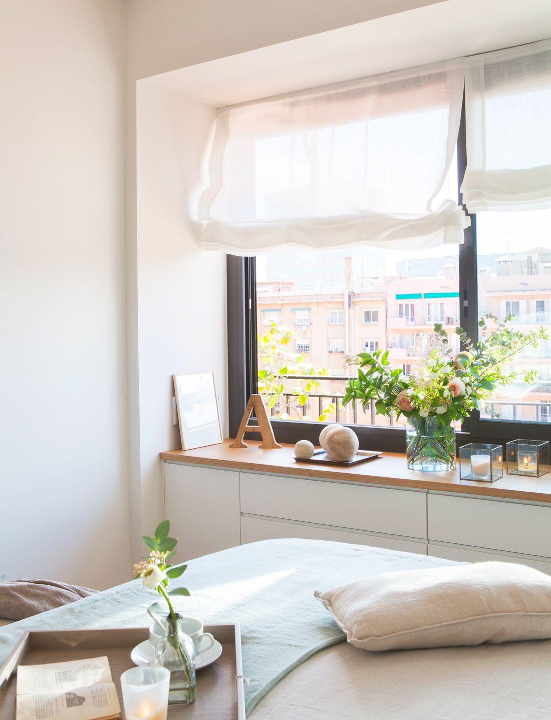 Una estupenda vivienda funcional clida y atemporal homie - Bancos para dormitorio matrimonio ...