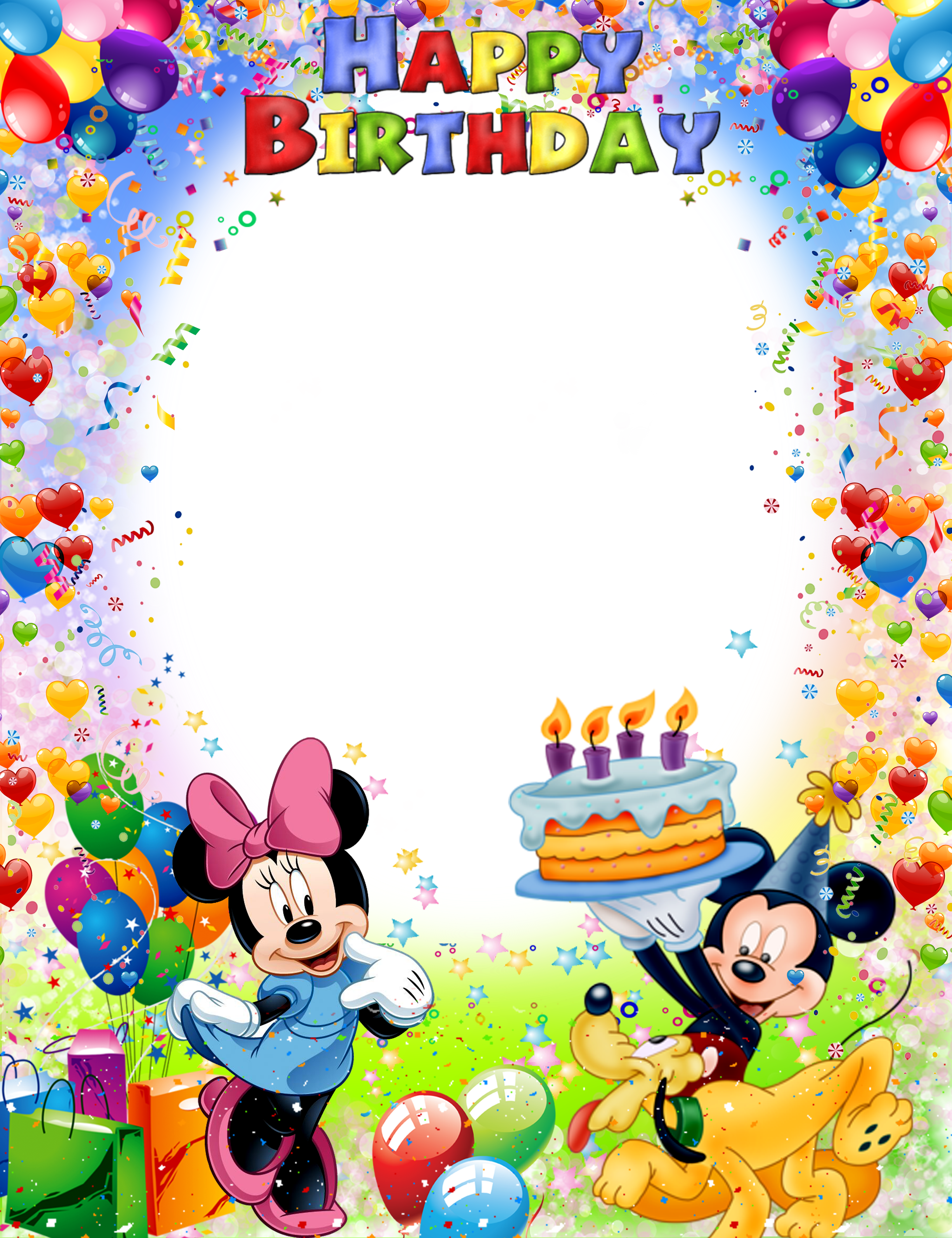 Pin By Ionela Rugea On Disney Frames Happy Birthday Frame Birthday Photo Frame Happy Birthday Kids