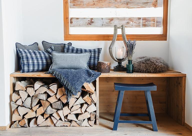 Der neue Stil der Berge DIY-Tipp Sitzbank mit Holzlege Modern