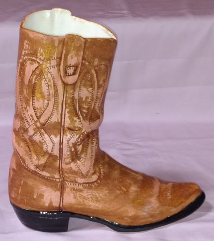 Worn Look Cowboy Boot Ceramic Cowboy Boot Vase Pinterest
