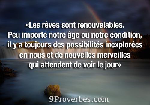 Citation » Les rêves sont renouvelables - 9Proverbes.com