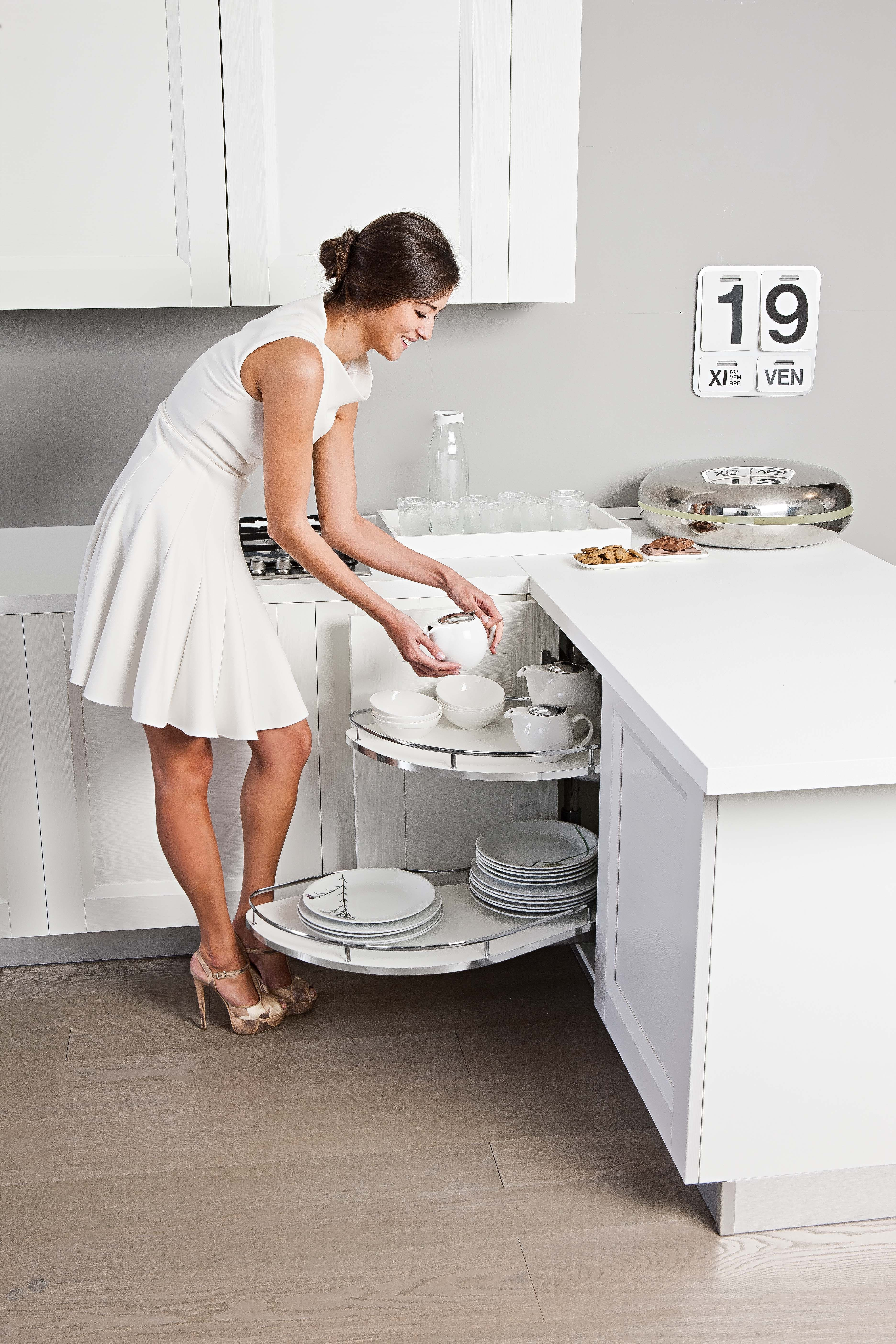 Best I520 Series Wave Corner Pull Out Unit Kitchen Cabinets 400 x 300