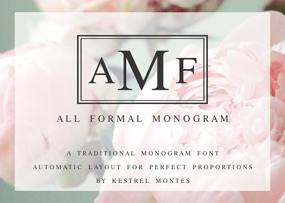 All Formal Monogram Plus Borders by InkMeThis on @creativemarket - Formal Invitation Letters