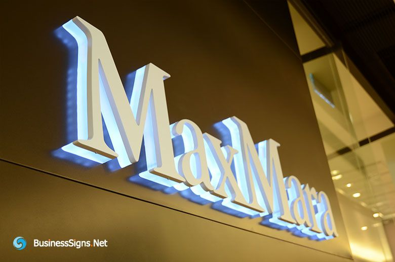 D Led Backlit Signs With Painted Stainless Steel Letter Shell