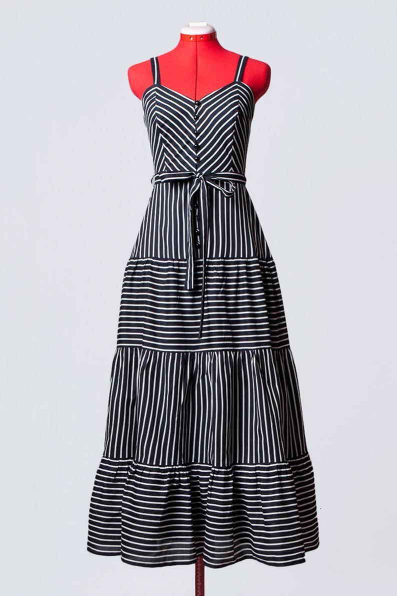 Vintage 70s 80s Black And White Chevron Stripe Summer Etsy Stripe Outfits Shirt Dress Summer Gorgeous Dresses [ 1190 x 794 Pixel ]