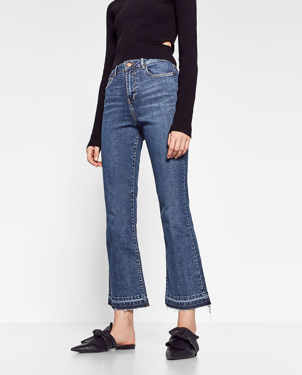 e93298e6623af1 ZARA - WOMAN - MINI FLARE JEANS | Closet wishes | Jeans, Fashion ...