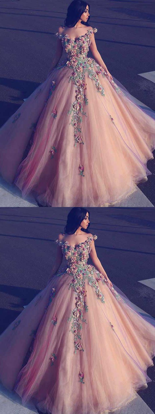 Aline prom dress modest beautiful long off the shoulder prom dress