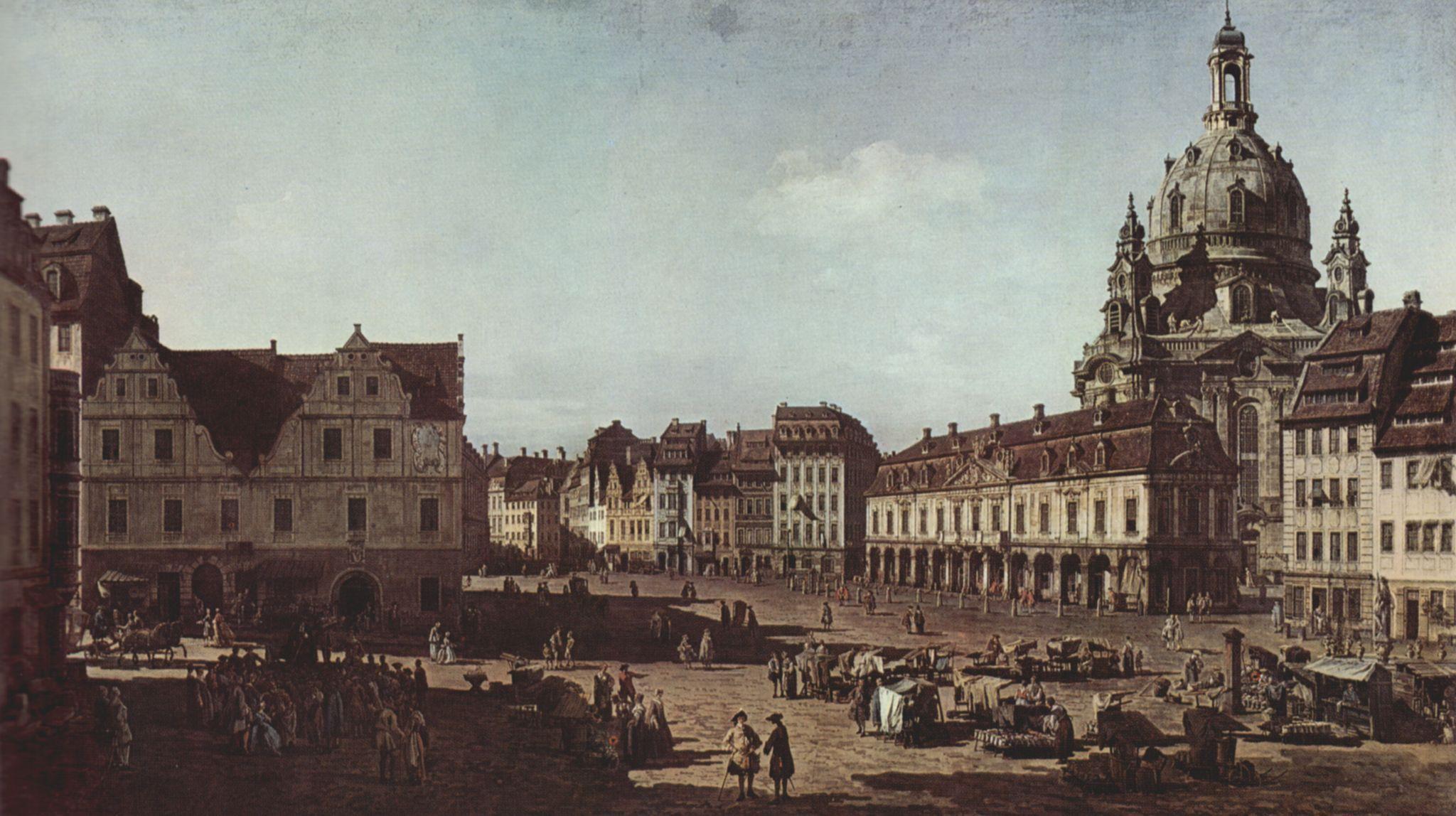 Landschaftsbau Dresden canaletto i ansicht dresden der neumarkt der