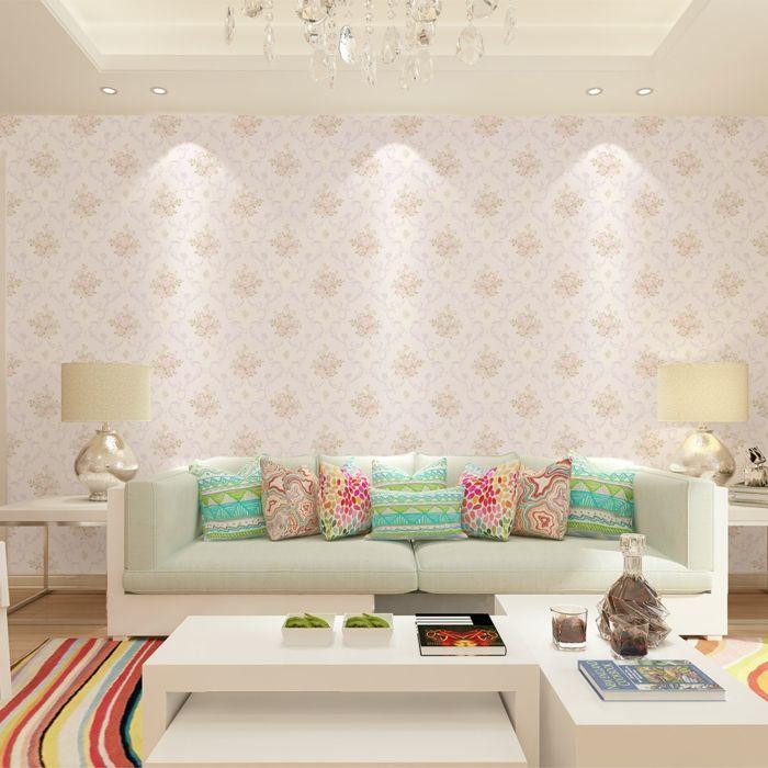 tepetenmuster wangestaltung wohnzimmer dezent Wandgestaltung - fototapete wohnzimmer grun