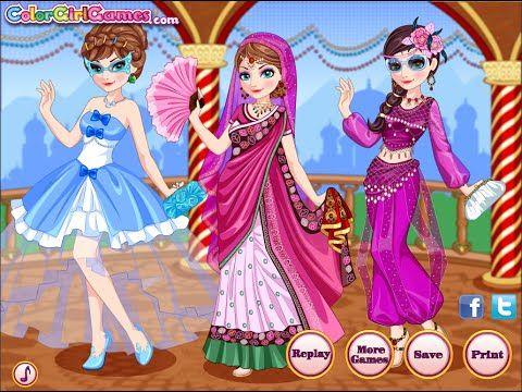 Juegos de Frozen:  Ice Queen Tiempo De Viaje A La India