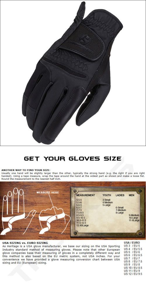 Riding Gloves 95104: Size 06 Black Heritage Procomp Riding Gloves Horse Equestrian -> BUY IT NOW ONLY: $33.99 on eBay!