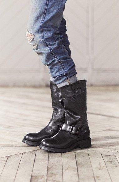 Steve Madden 'Shevron' Biker Boot $159.00 | Shoes Glorious Shoes |  Pinterest | Biker boots, Steve madden and Bikers