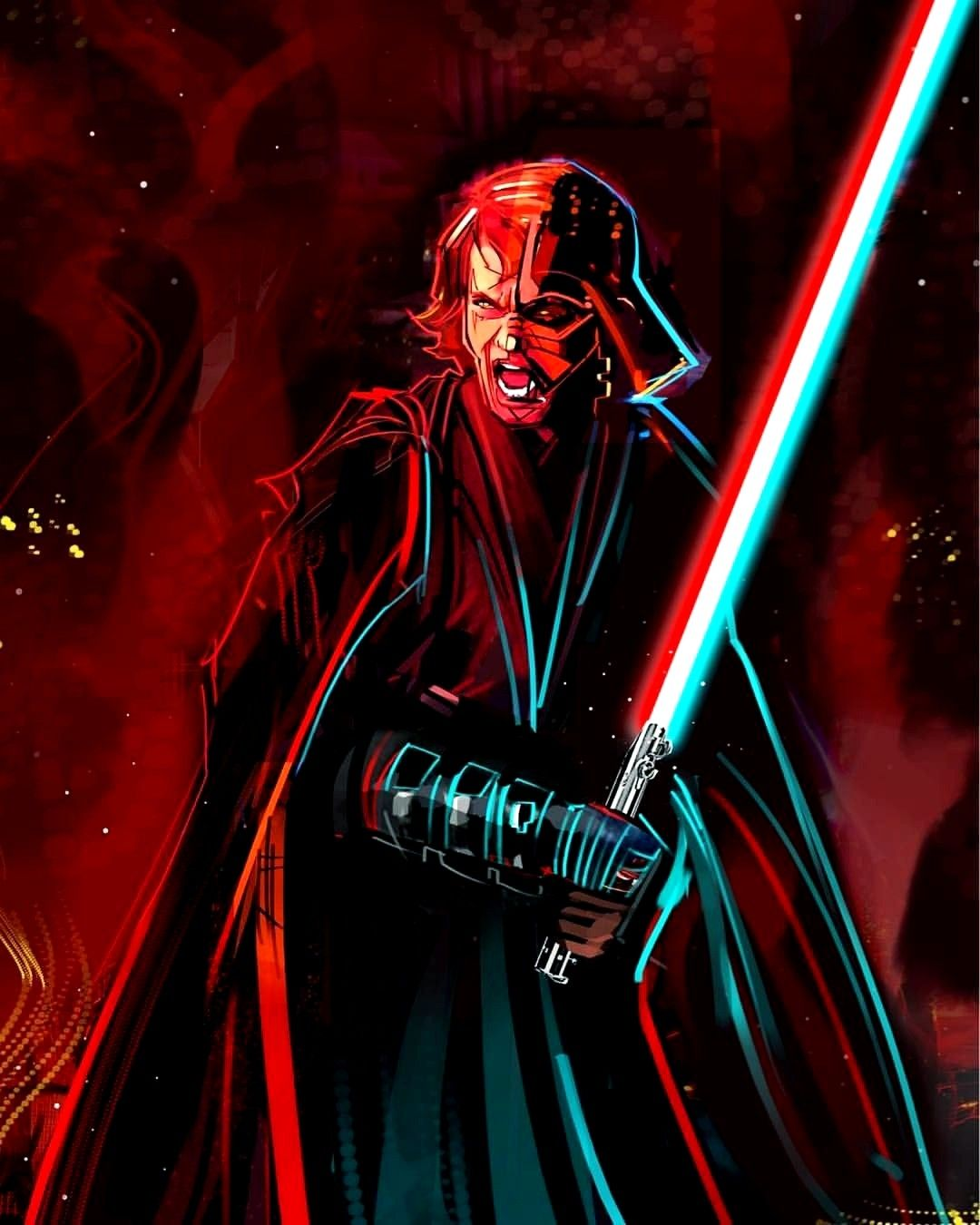 Darth Vader Anakin Skywalker Starwars Star Wars Painting Star Wars Background Star Wars Pictures