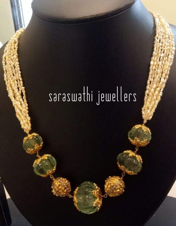 , #Beadedjewelryindiangold in 2020 | Perlenkette ...