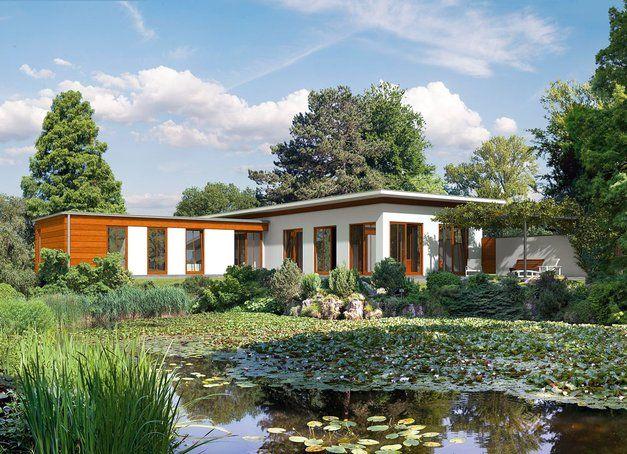 auenansicht haacke bauhaus bungalow moderne bungalowsbauhaus