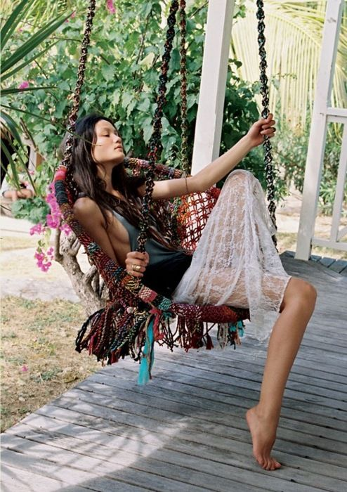 hippie hanging chair. ♛Should you require Fashion Styling Advice & More. View & Contact: www.glam-licious.webs.com♛