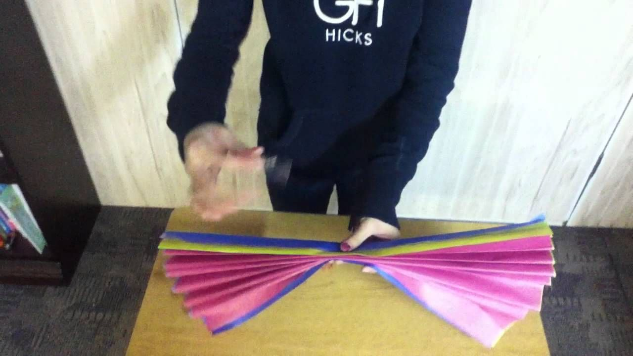 How To Make Flowers Out Of Tissue Paper Demonstration Speech