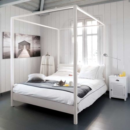 Letto A Baldacchino Ikea Edland.Pin Di Chiara Gambarino Su Home By The Sea Letti Di Design Idee