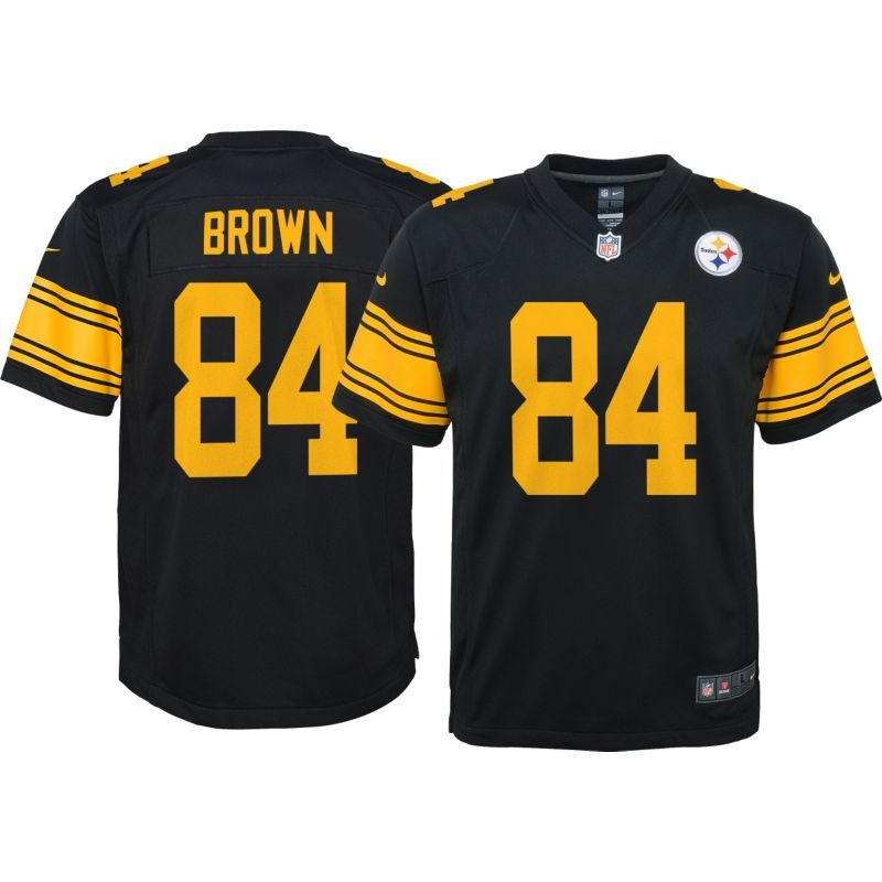 6f588f1fac9 Nike Youth Color Rush Game Jersey Pittsburgh Steelers Antonio Brown ...