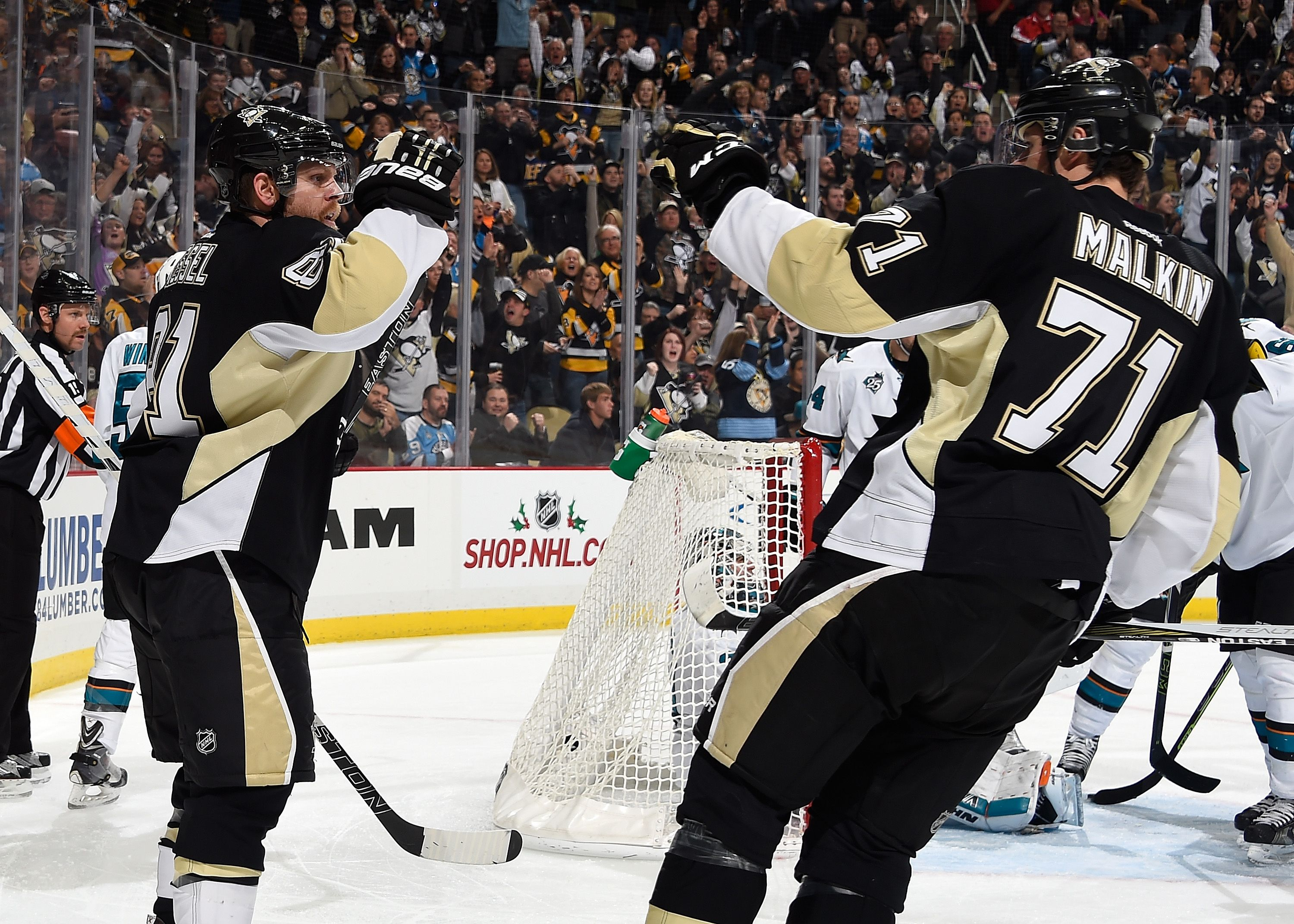 November 21, 2015 vs. San Jose: Phil Kessel picked up his seventh goal of the season, which proved to be the Penguins only goal of the game. Final score, 3-1 Sharks.